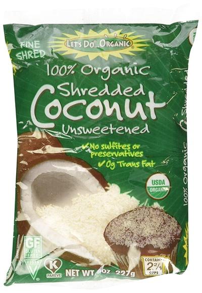The kind of shredded coconut I use to make coconut milk