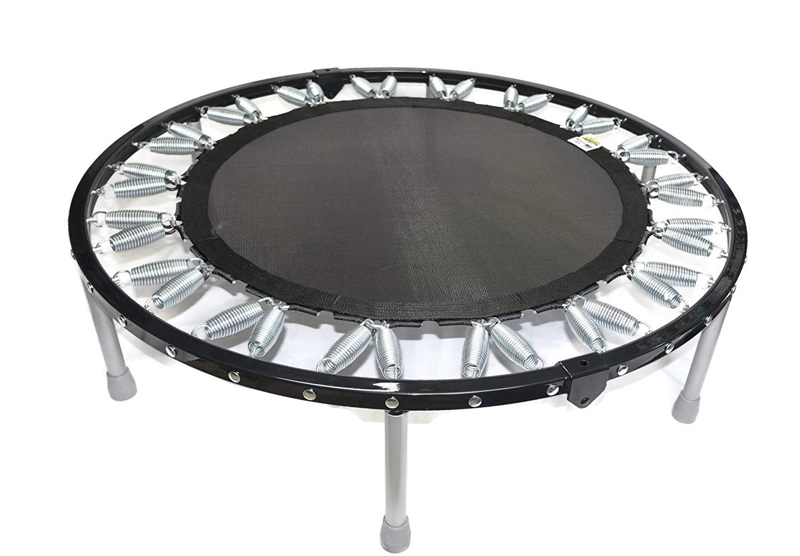 The Needak Rebounder Soft Bounce. This one folds in half for storage. Moving your lymph and increasing your circulation by jumping on this for 15 minutes a day can change your life for the better.