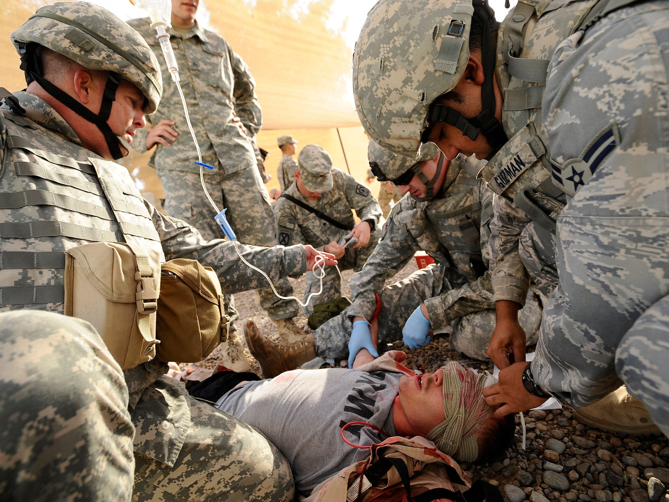 Medical devices for battlefield operations -