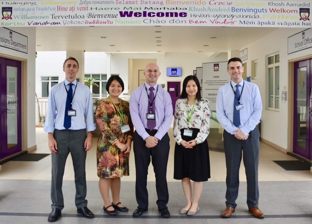 Jon Turner (ISPKL Principal),  Diep Nguyen  (ISPH Project & Operations Manager),  Andrew Dalton  (ISPKL & ISPH Director of Education),  Huyen Le  (ISPH Marketing & Admissions Manager),  Rik Millington  (ISPH Principal)