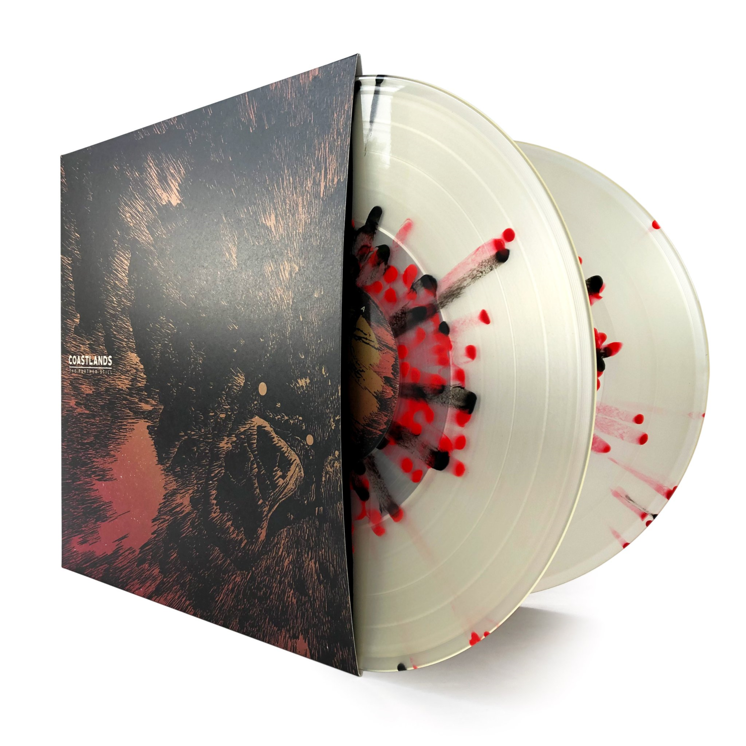 Coastlands • The Further Still - Released on Nov 2nd, 2018. 1st pressing Yellow w/ Black Smoke. Sold Out.2nd pressing Milky Clear w/ Red/Black splatter. Limited to 250 copies.
