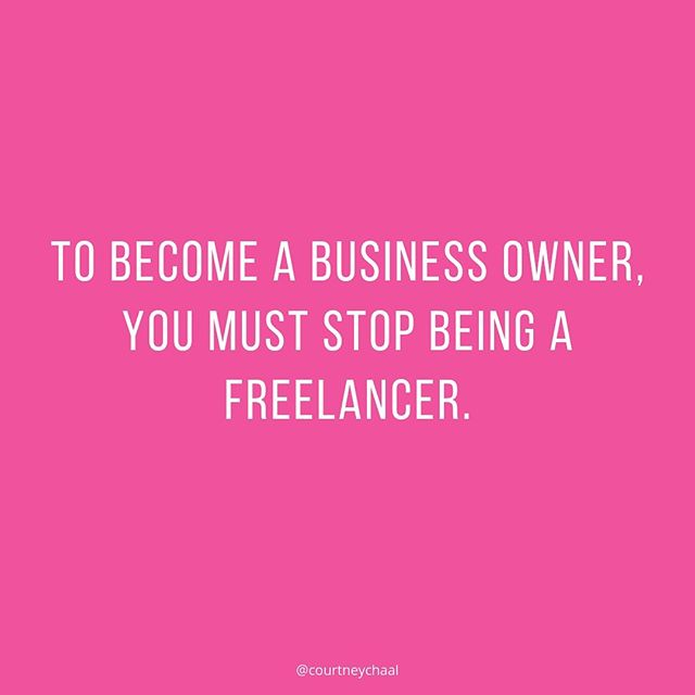 Here's the difference between a business owner and a freelancer:⁠⠀ ⁠⠀ A FREELANCER is reactive to opportunities. A freelancer creates custom proposals. A freelancer has to compete on price. A freelancer has to hunt for clients. A freelancer is basically an employee who doesn't have to go into the office and doesn't get benefits.⁠⠀ ⁠⠀ A BUSINESS OWNER is in charge. A business owner creates a signature solution for their target audience. A business owner attracts clients to them. A business owner has unlimited growth potential. A business owner's prices have nothing to do with how many hours they work or what other people are charging.⁠⠀ ⁠⠀ Which one are you?⁠⠀ ⁠⠀ Which one do you want to be?⁠⠀