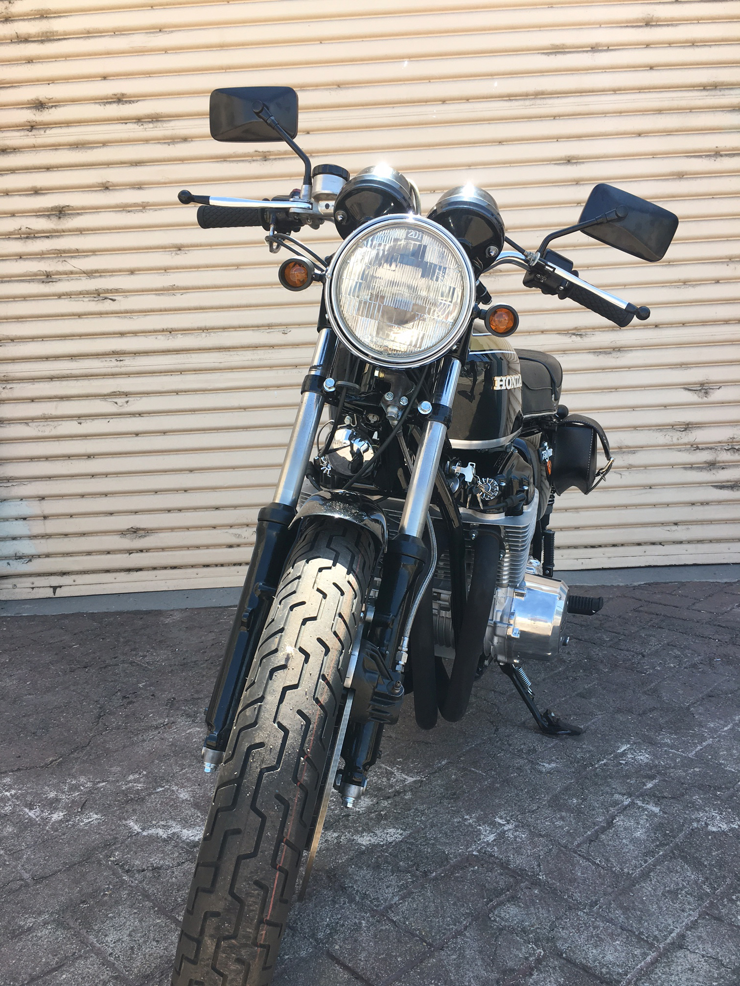 (Front) 1973 Period Correct (Black) Honda CB750.JPG