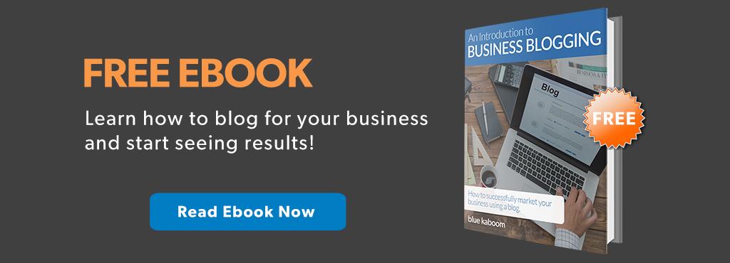 Blogging for Businesses Ebook