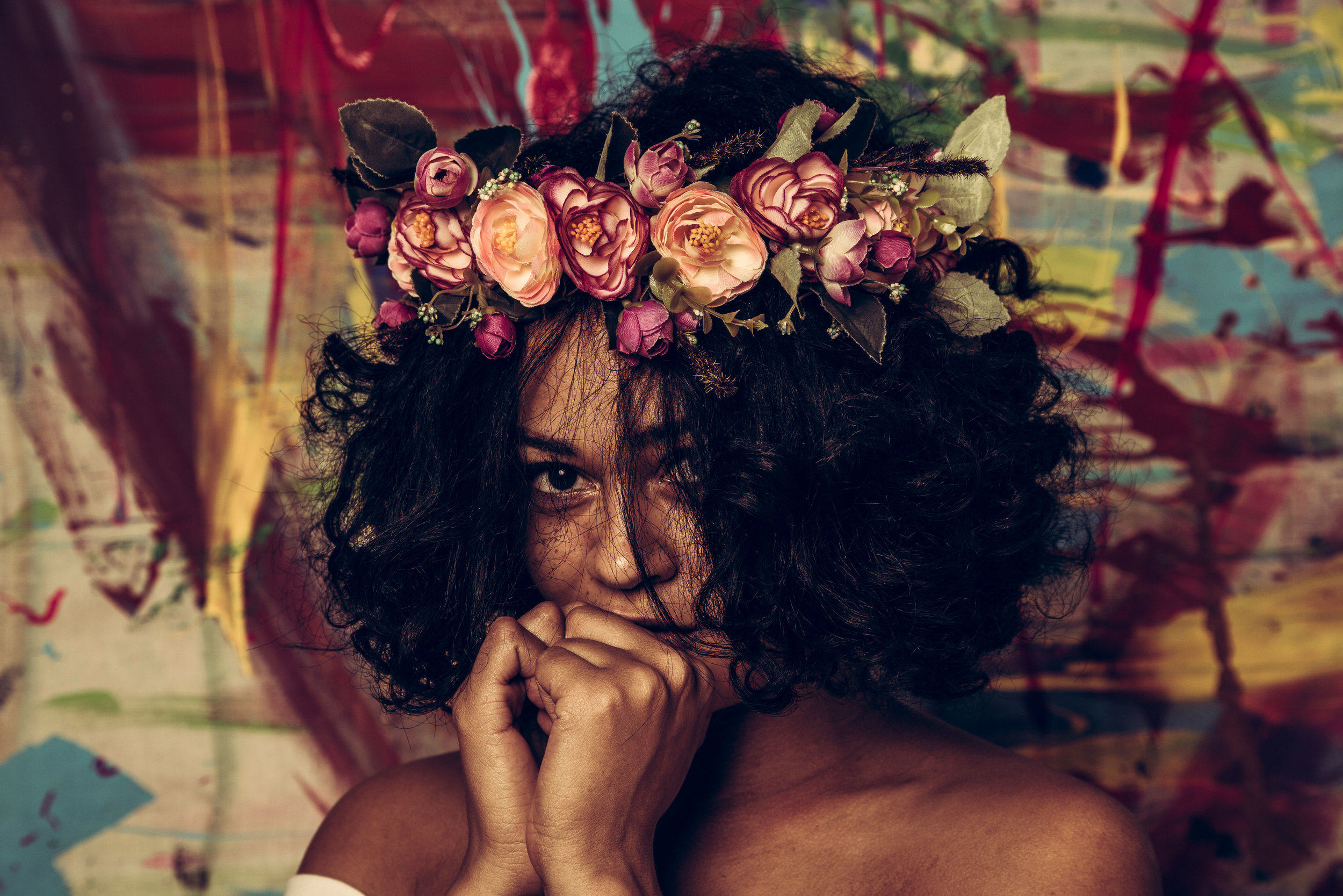 from  Flower Crown Portrait Series by Trokon V. Hill