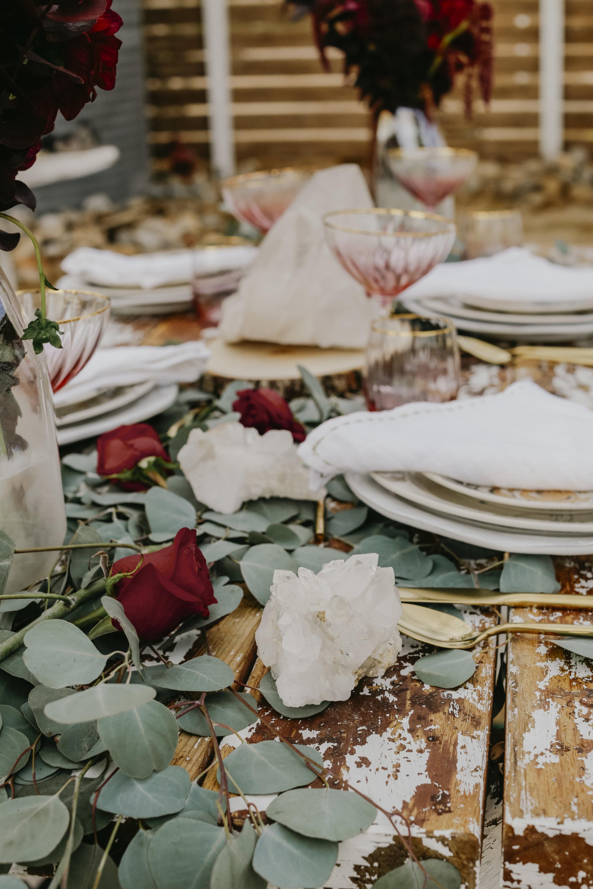 bohemian crystal wedding