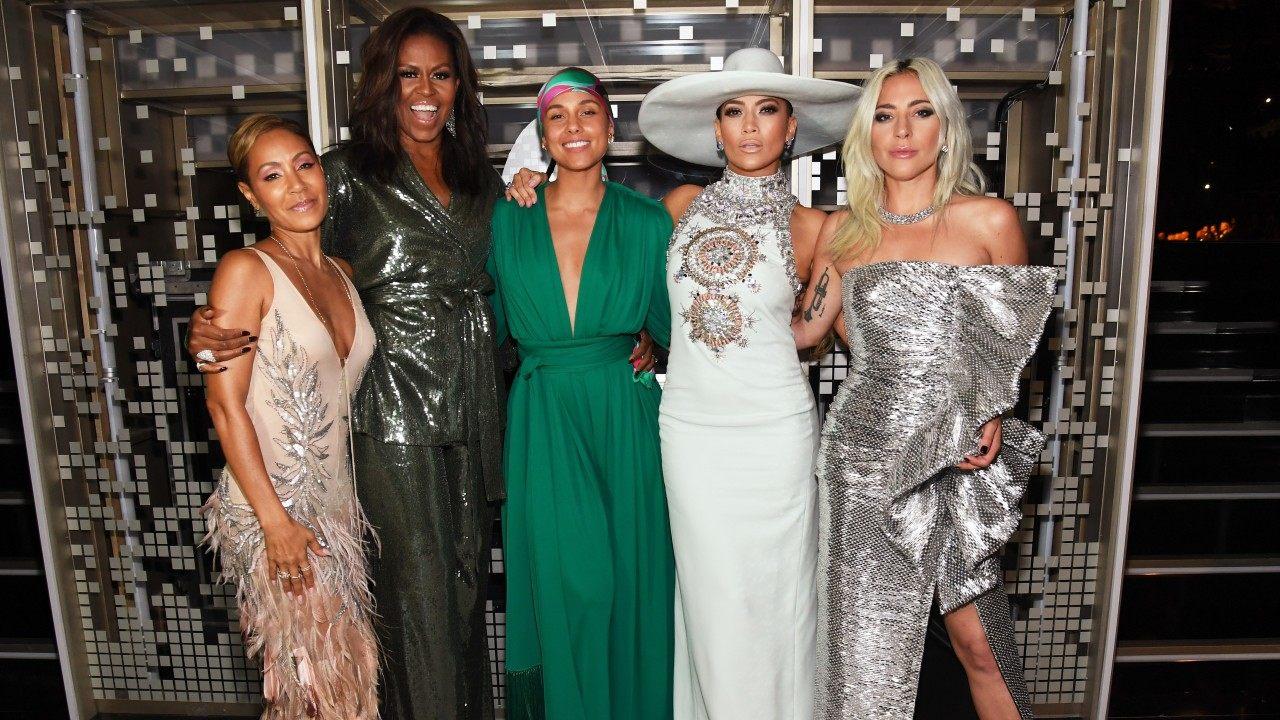 My version of the Avengers   : Jada Pinkett Smith, Michelle Obama, Alicia Keys, Jennifer Lopez & Lady Gaga opened the show to resounding applause. Photo via    billboard.com