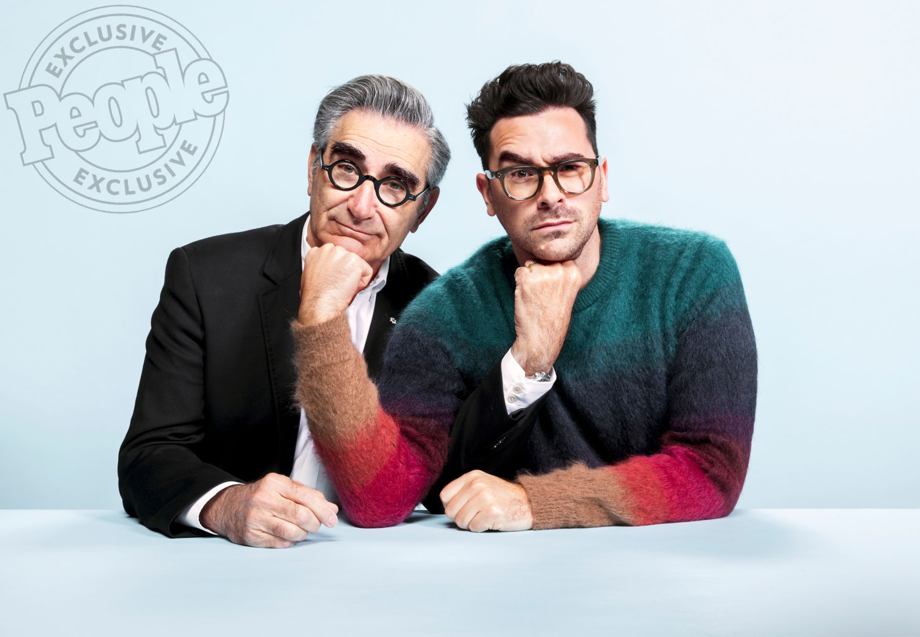 From left: Eugene and Daniel Levy. Image via    People.com