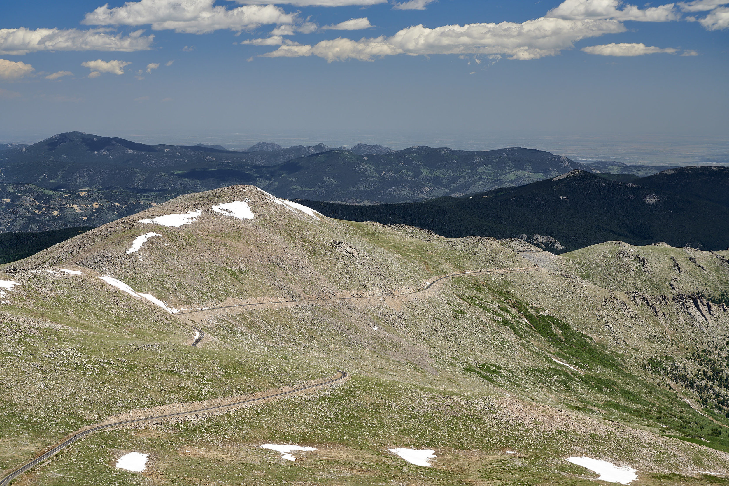 One of the many views from Mt. Evans' summit