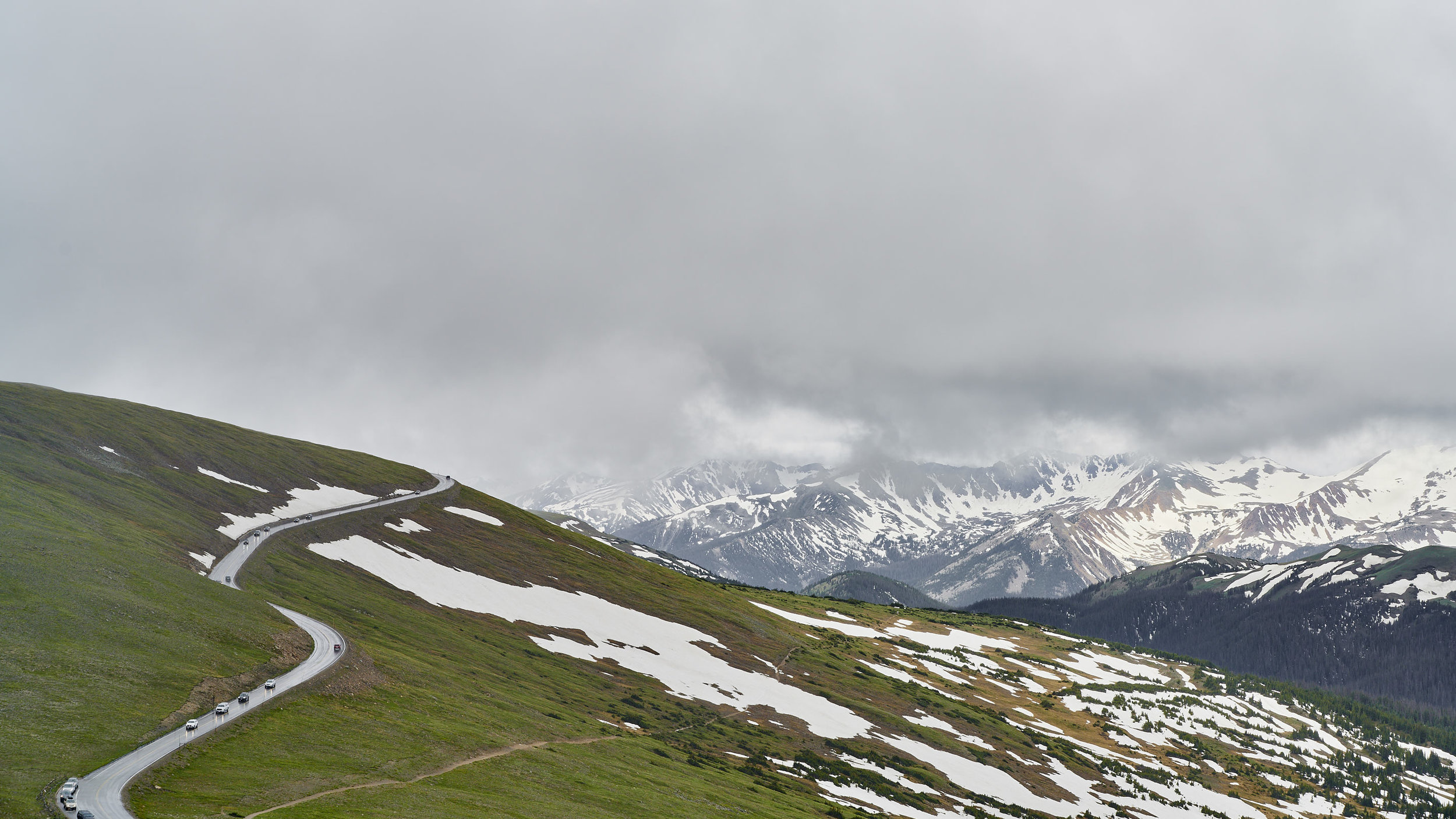 A view of the Trail Ridge Road from the Alpine Visitor Center