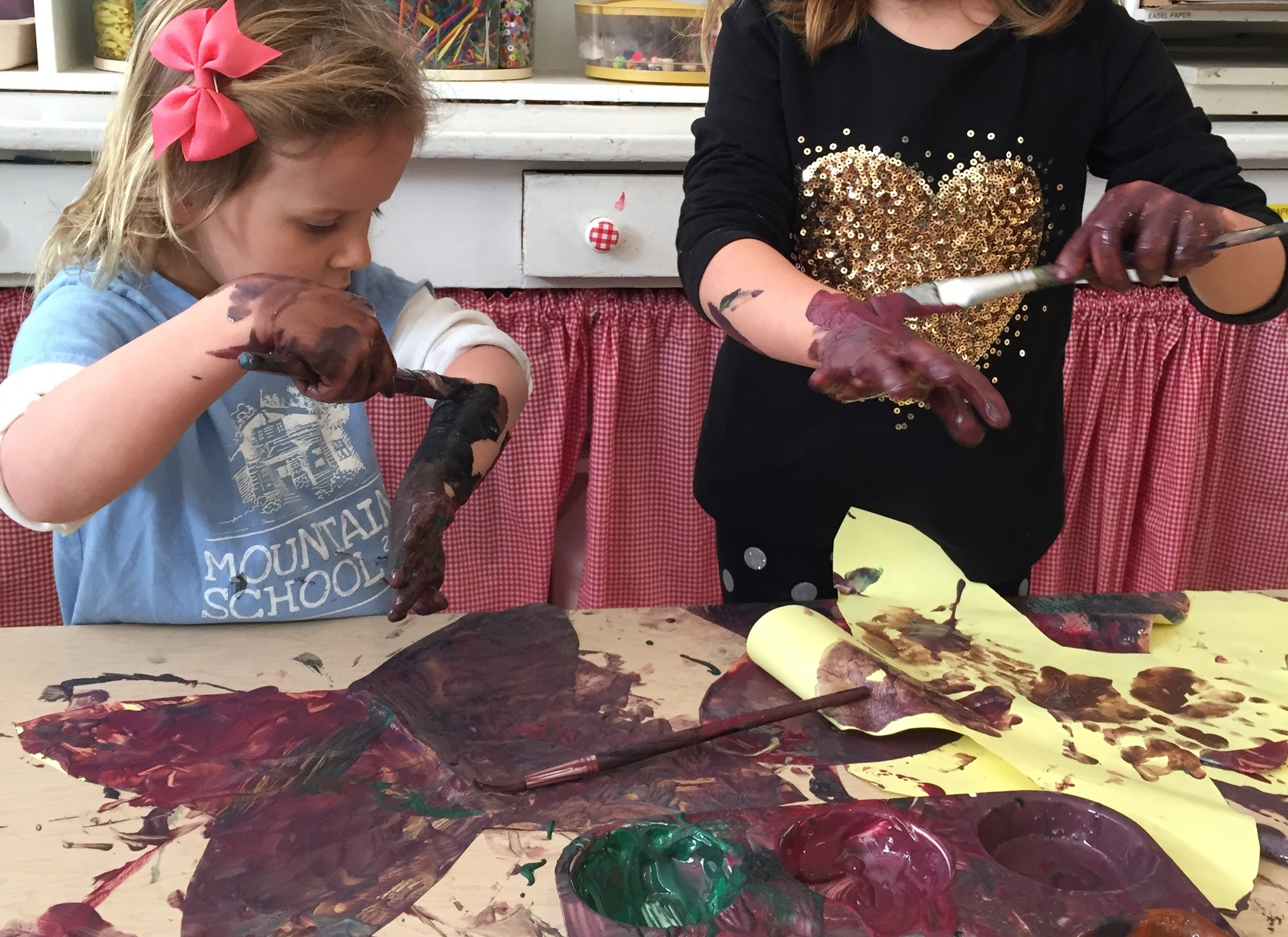 Some kiddos love to really FEEL - even painting on their body for this sensation!