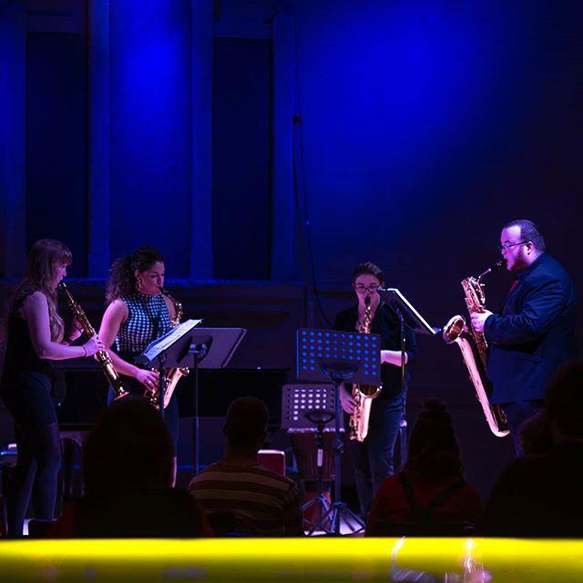 Highly talented Adelaide Sax Quartet • #livemusic #saxquartet #chambermusic #saxophones #recitalhall #adelaide #southaustralia @sacsaus @cityofadelaide @domcantfindausername @jaime.grech @sammiwebbs
