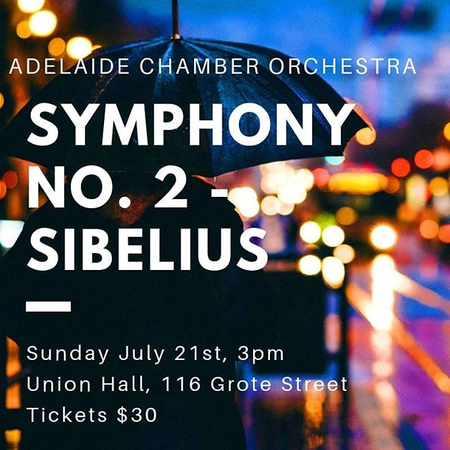 Tickets have just gone on sale for our @umbrellaadl festival winter concert featuring the sumptuous second symphony of Sibelius • more ticket info on the website, link in bio! #wintermusic #classicalmusic #livemusic #orchestralmusic #symphony #adelaide #southaustralia  @cityofadelaide #sibelius #finland