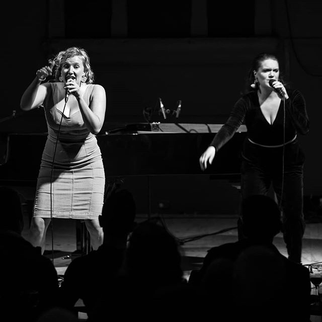 A full house at Union Hall for the original , tuneful and thought provoking Friendly Feminism for the Mild Mannered by @millicentsarre  and supporting artist @jemmaallen • for tickets go to @millicentsarre bio • #cabaret #adelaidecabaretfestival #cabaretfringe #showtunes #singersongwriter #blackandwhite #theatrefolk #stageanimals #unionhall #babygrand