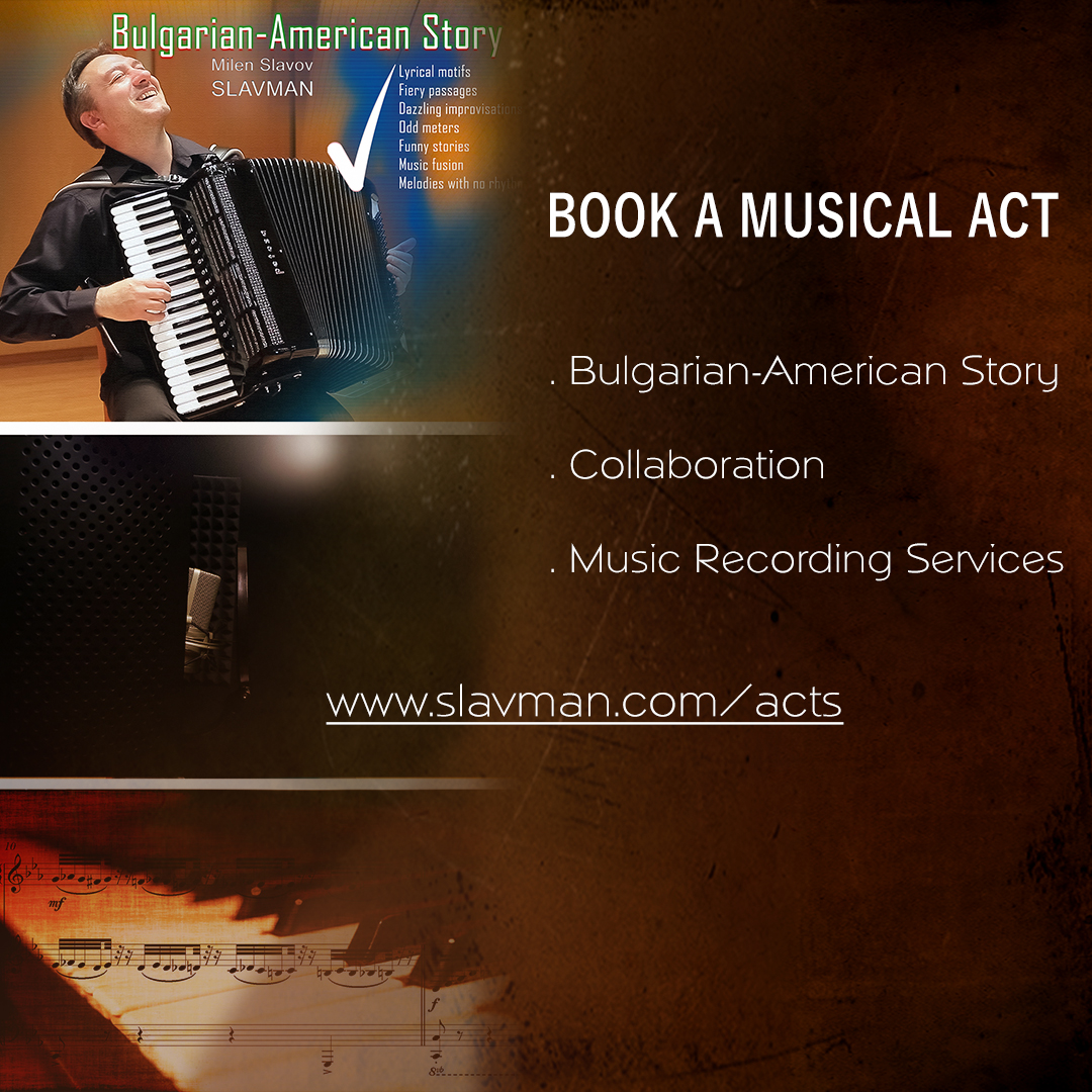 Get started with booking any of our uniquely crafted musical acts.  www.slavman.com/acts
