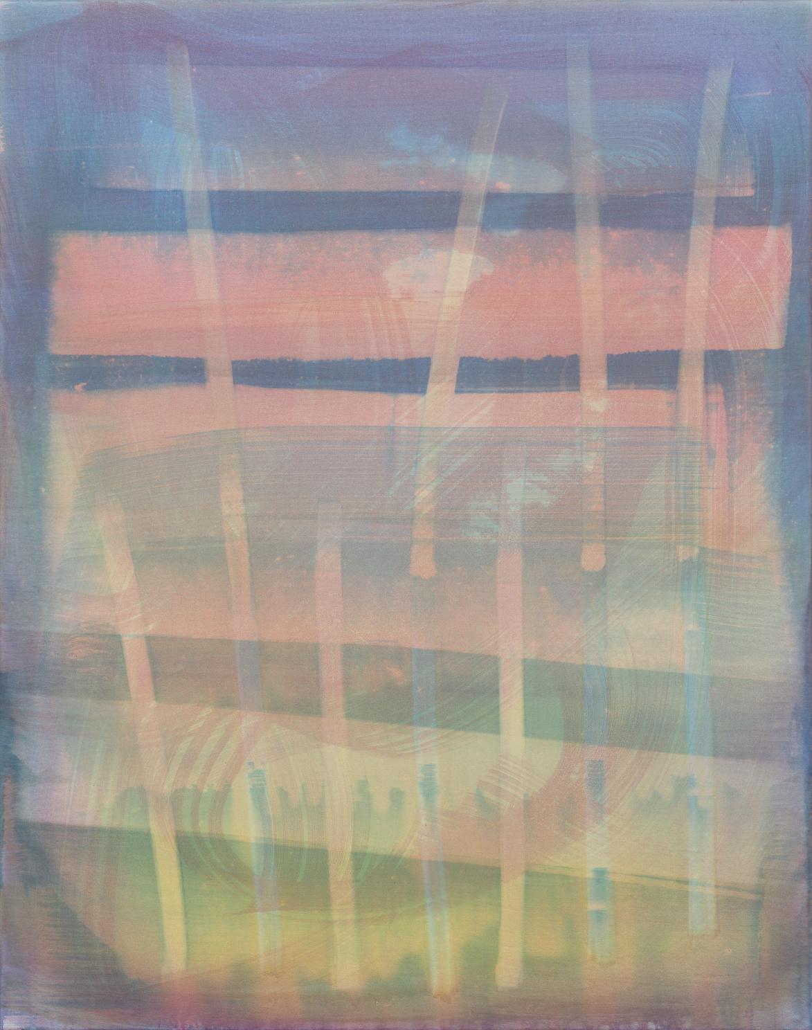 Ohne Titel [17182] | 2017 | Organic Preparation of Pigments on Canvas | 120 x 95 cm | ©Felix Büchel, Courtesy GALERIE ALBER