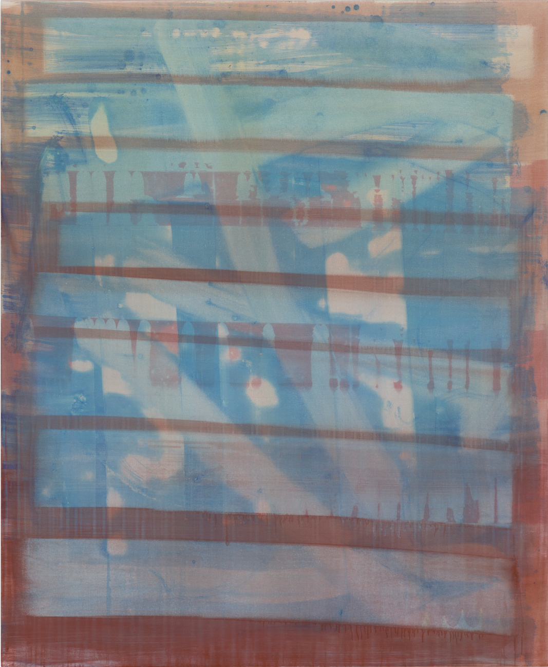 Ohne Titel [17203] | 2017 | Organic Preparation of Pigments on Canvas | 175 x 145 cm | ©Felix Büchel, Courtesy GALERIE ALBER