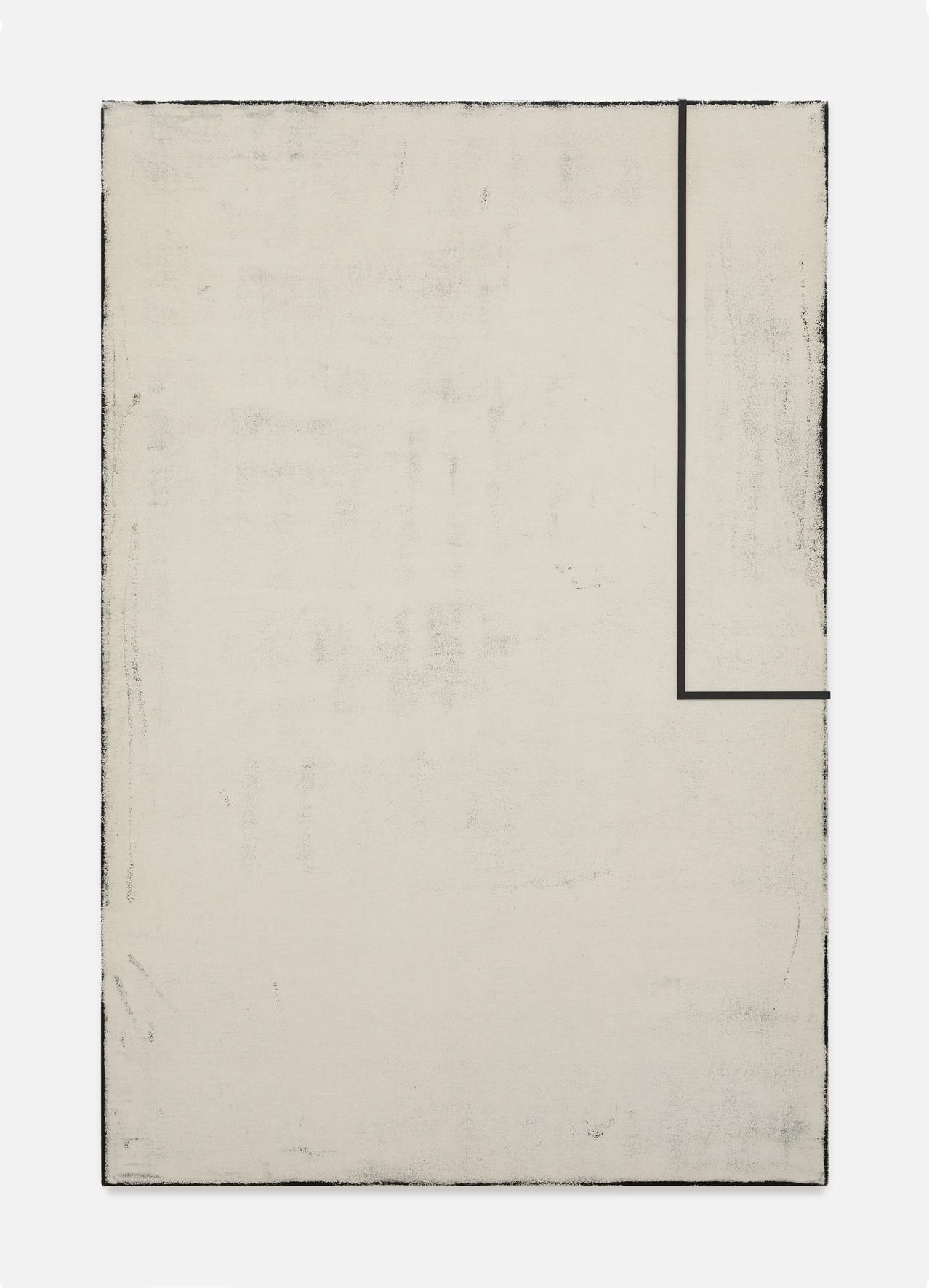 Noon I | 2018 | Öl, Staub und Metall auf Leinwand | 210 x 140 cm | ©GALERIE ALBER