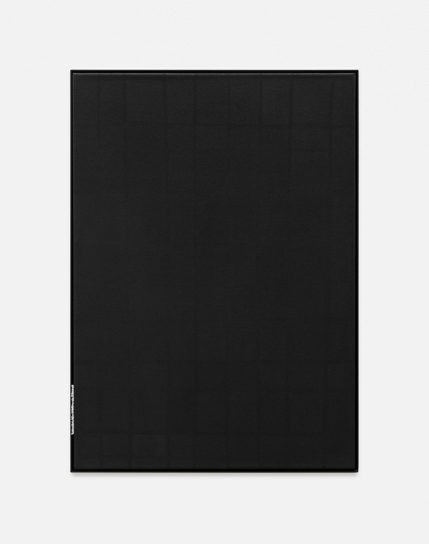 Side note II | 2018 | Öl, Metall und Leinen auf Leinwand | 71 x 51 cm | ©GALERIE ALBER