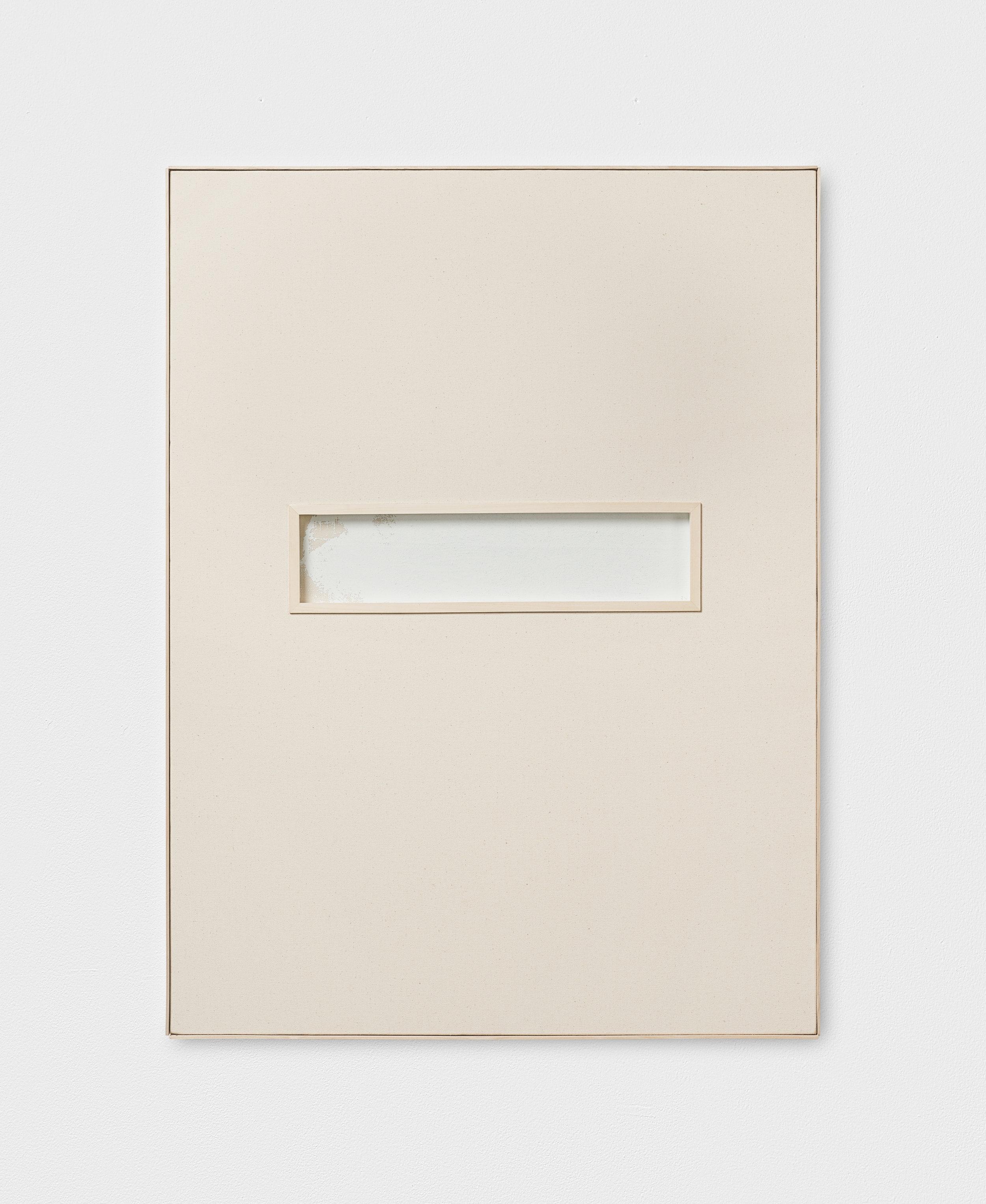 L. S. S. L. D. L' A., XVII | 2015 - 2016 | Leinen, Acryl auf Leinen hinter Glas, Künstlerrahmung | 81 x 61 x 3.5 cm | ©GALERIE ALBER
