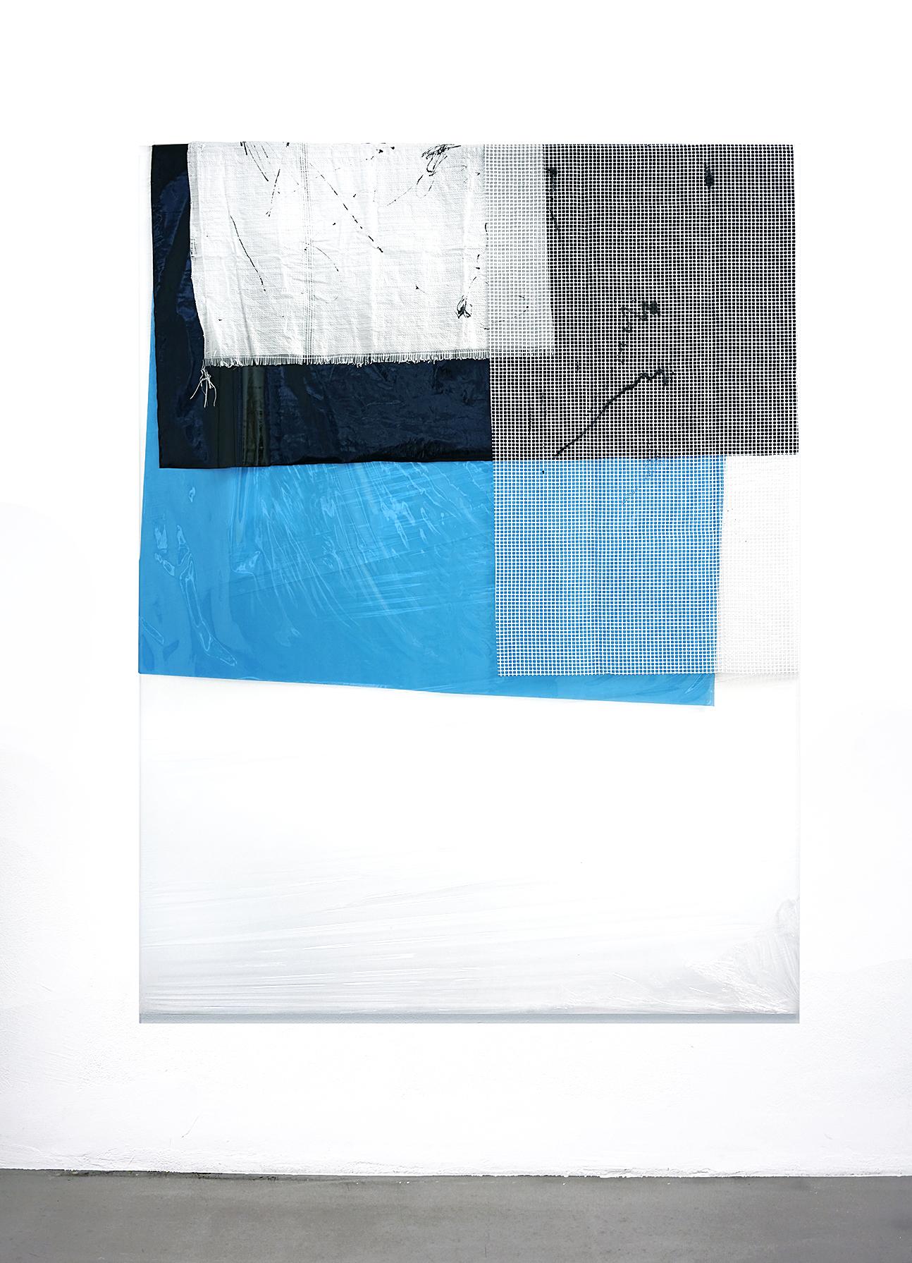 190201 | 2016 | Acryl, Lack, Sprühfarbe, PE Folie auf Leinwand | 200 x 150 cm | ©GALERIE ALBER