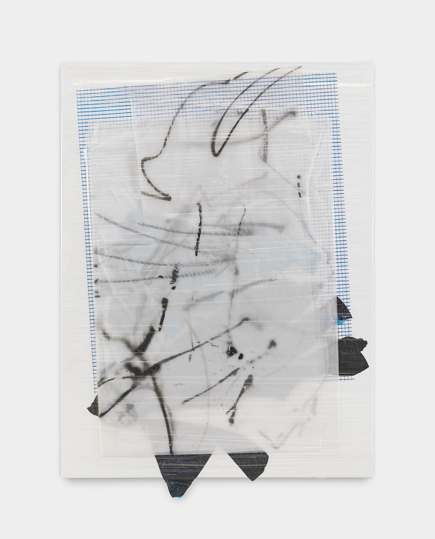 181008 | 2018 | Acryl, Lack, PE Folie, Milchtütenkarton recycled auf Leinwand | 165 x 120 cm | ©GALERIE ALBER