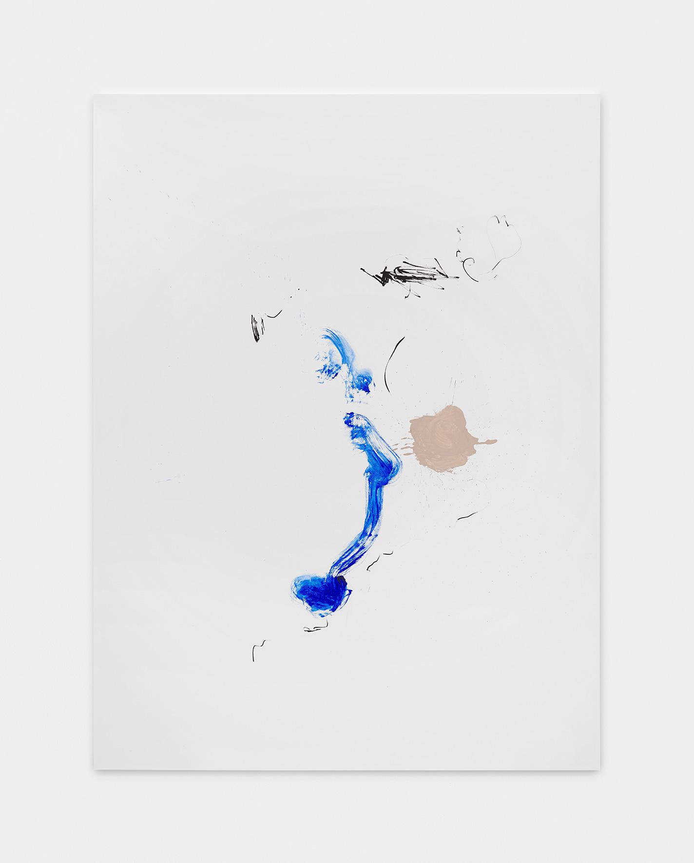 181222 | 2018 | Acryl, Lack, Tusche auf Leinwand | 200 x 150 cm | ©GALERIE ALBER