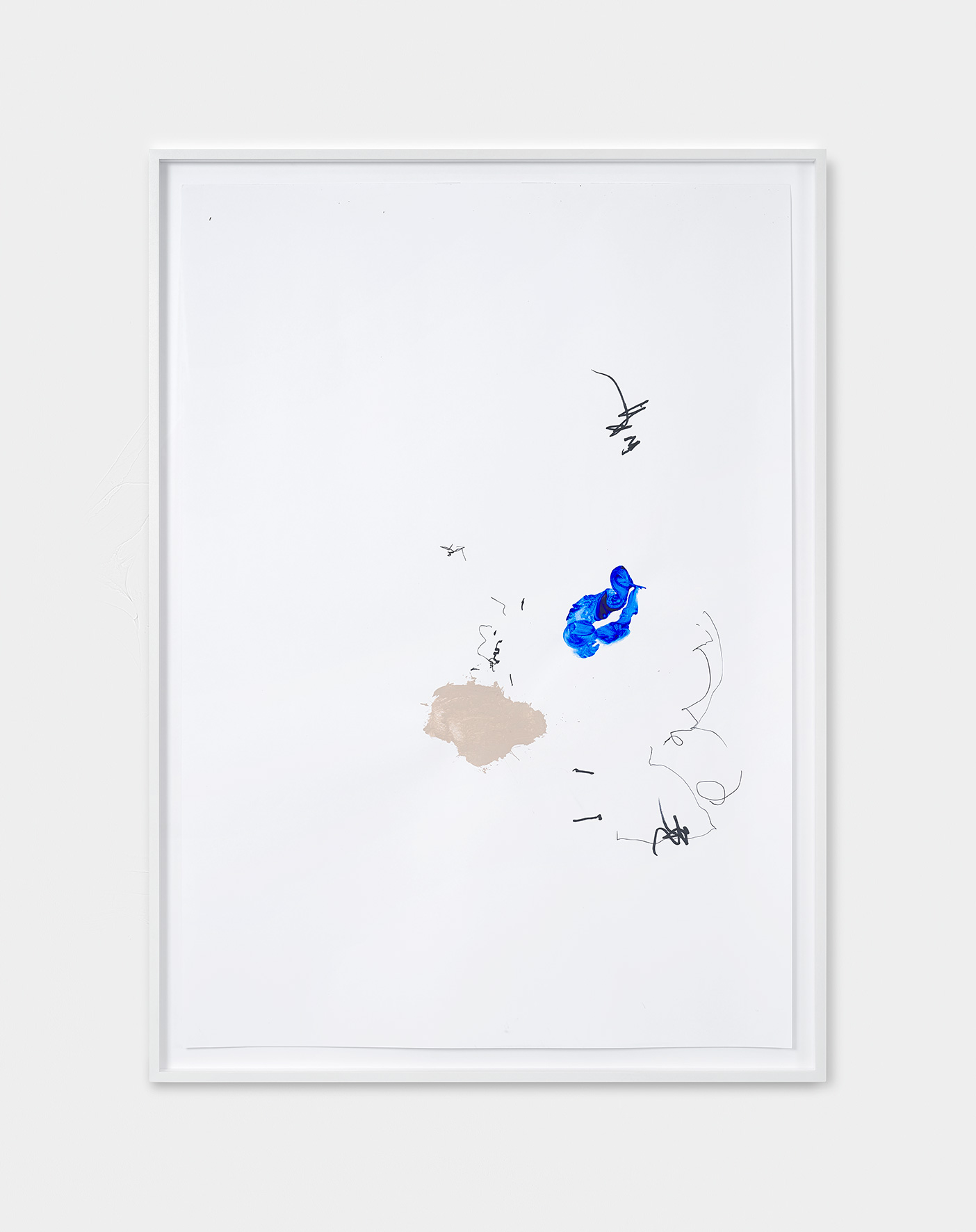 181217 | 2018 | Acryl, Lack, Tusche auf Papier | 95 x 65 cm | ©GALERIE ALBER