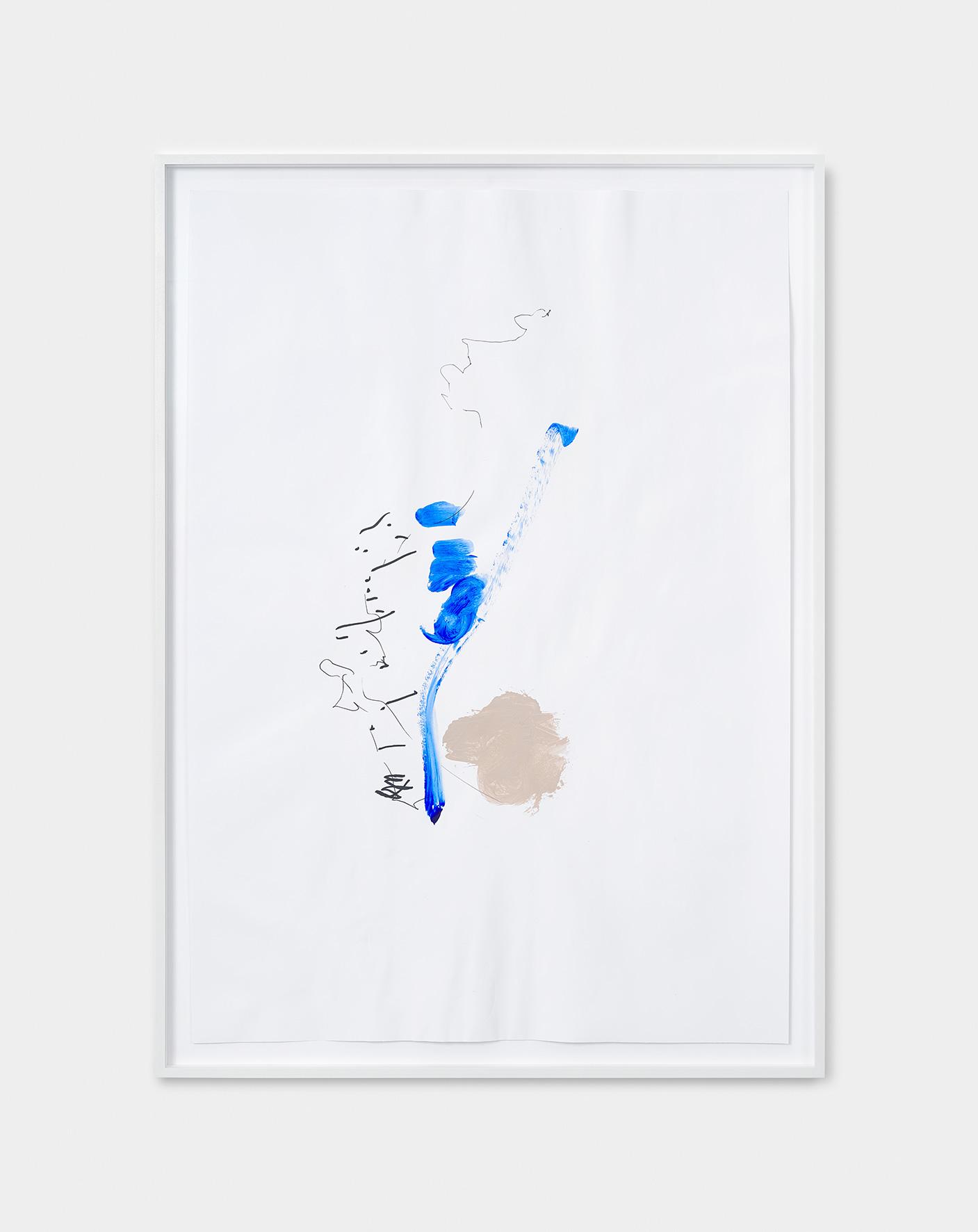 181216 | 2018 | Acryl, Lack, Tusche auf Papier | 95 x 65 cm | ©GALERIE ALBER