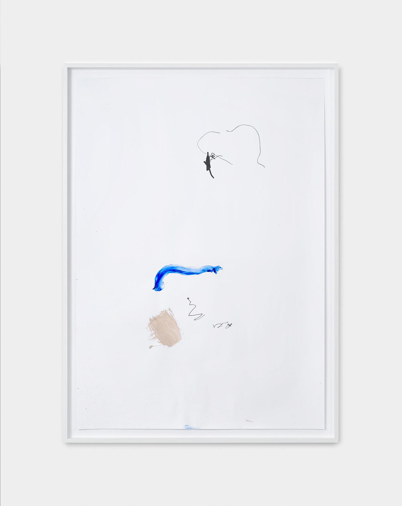 181218 | 2018 | Acryl, Lack, Tusche auf Papier | 95 x 65 cm | ©GALERIE ALBER