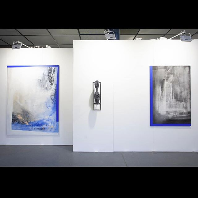 Detail views of our presentation at Art Market Budapest last week featuring works by Christian August,  Linus Clostermann and Laura Sachs.