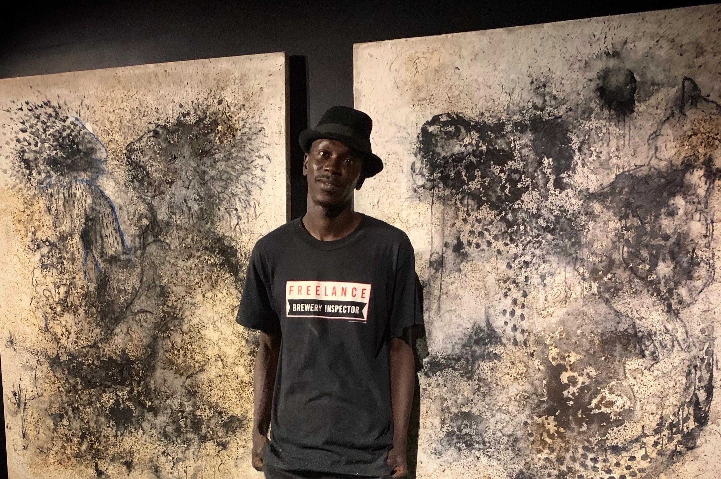 "FONDATION DONWAHI, ABIDJAN - Aliou Diack expose à la Fondation Donwahi, exposition ""Adduna""."