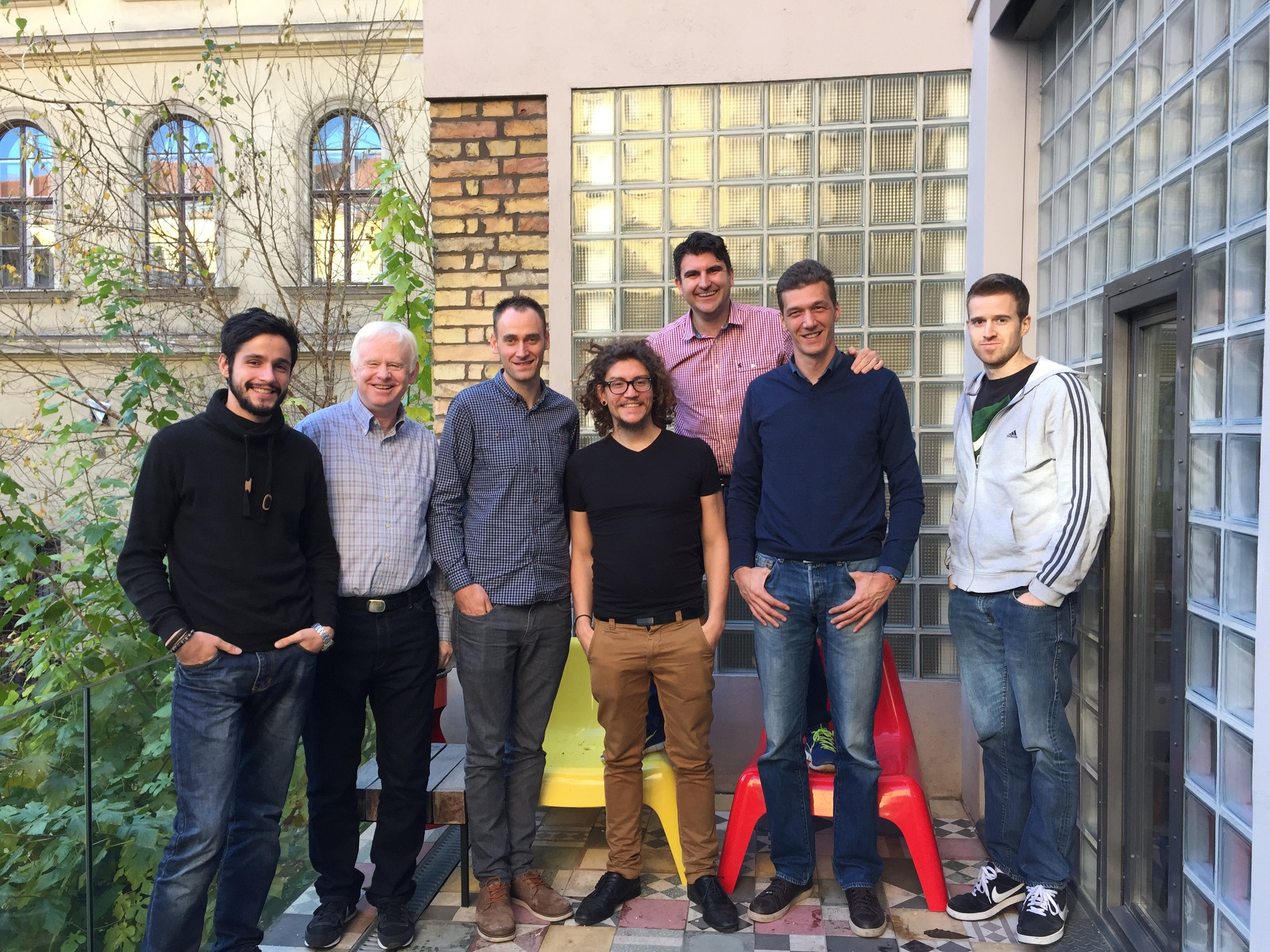 The expanded team in Budapest