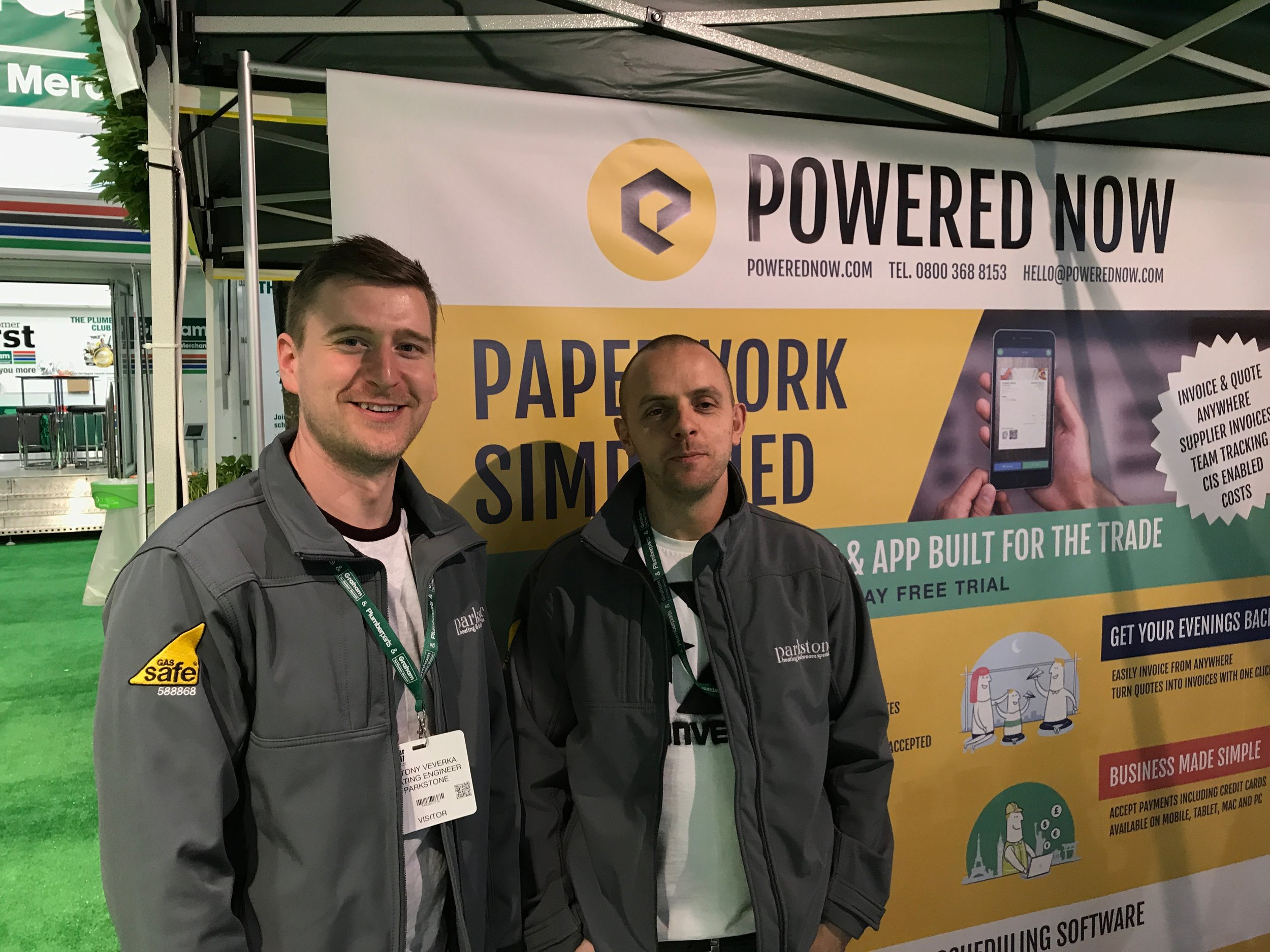Meeting users at the Installer Show 2017