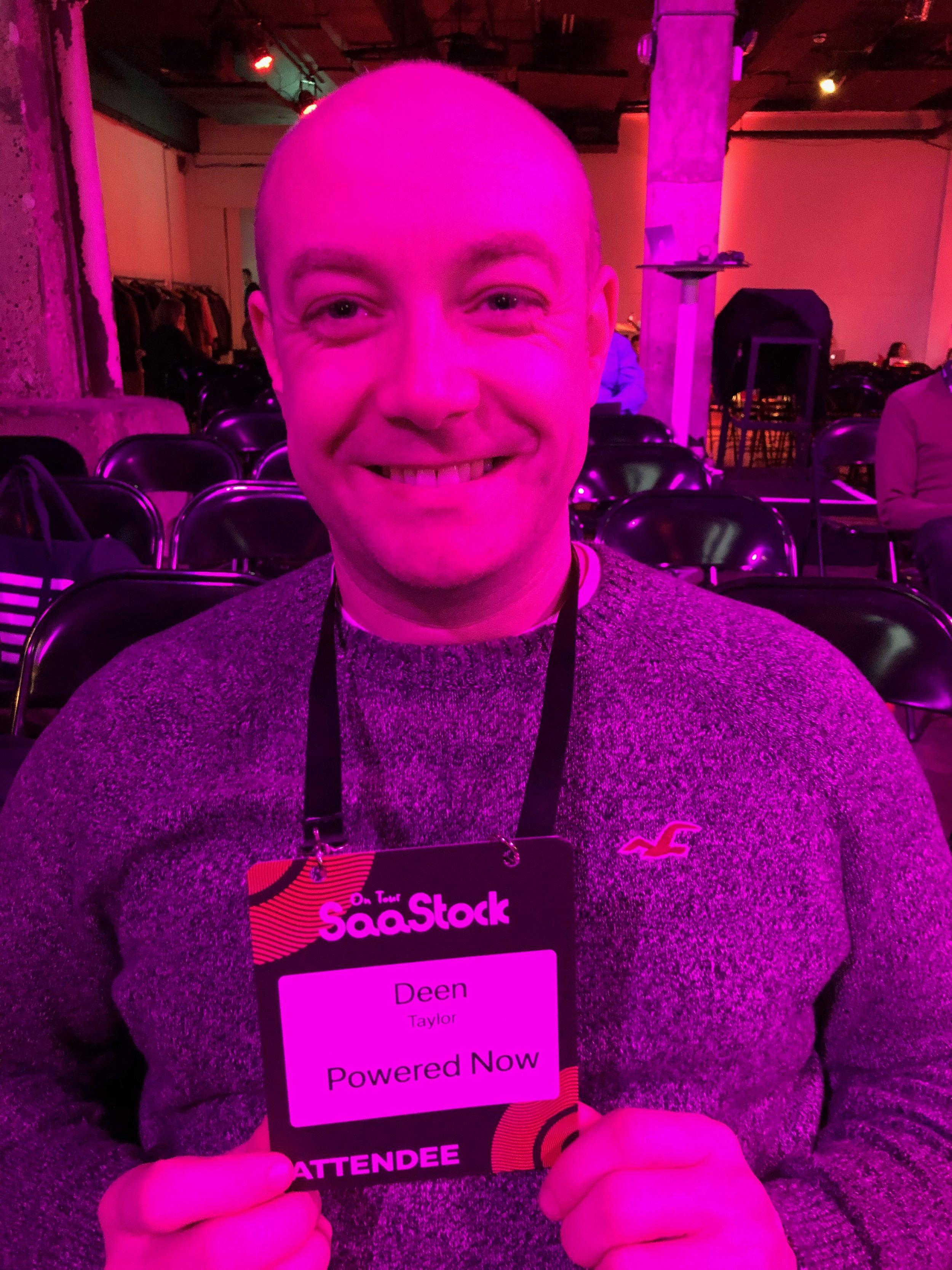 Dwayne at SaaStock London 2018