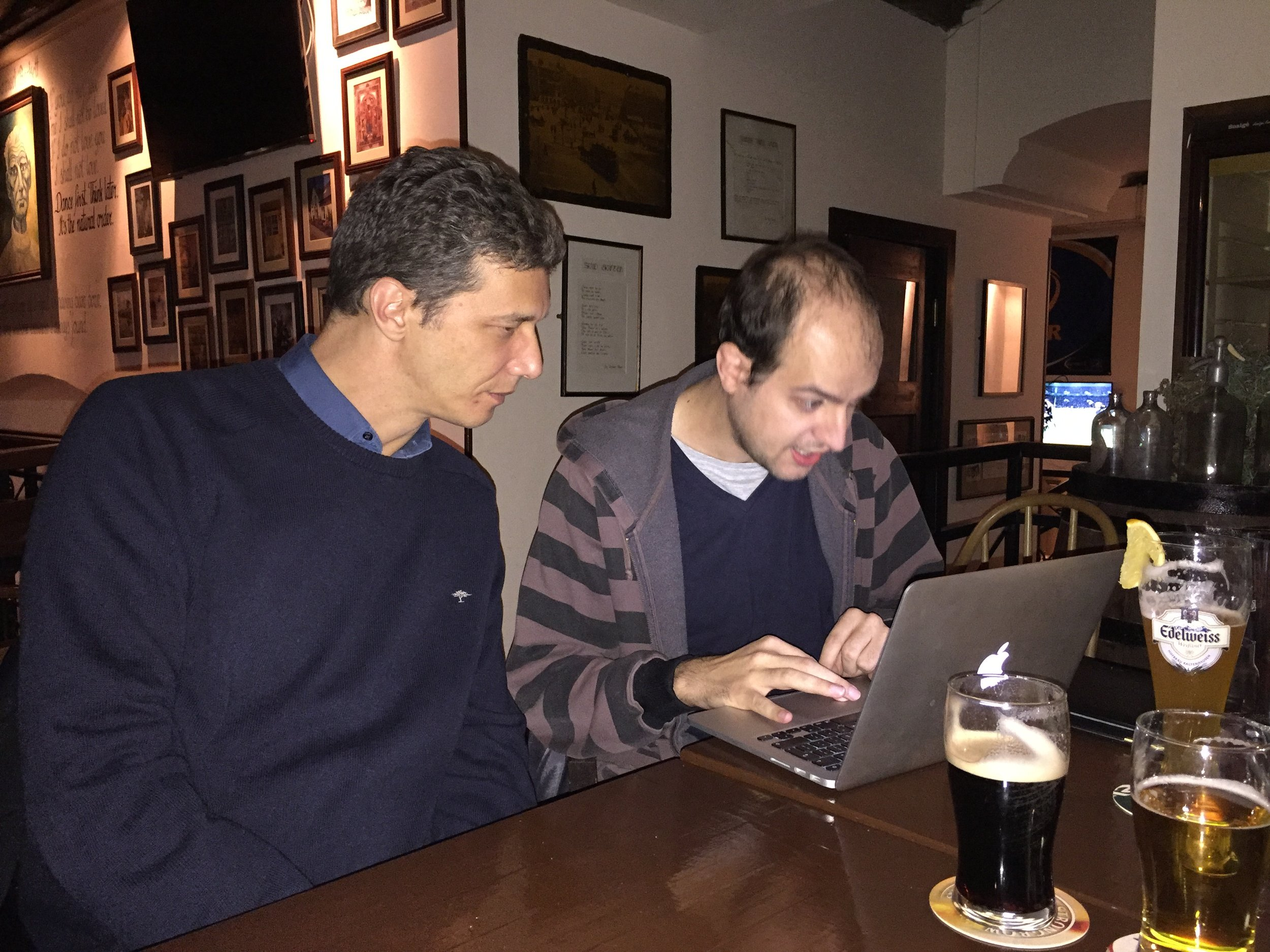 The time Steve built the web version, in the pub