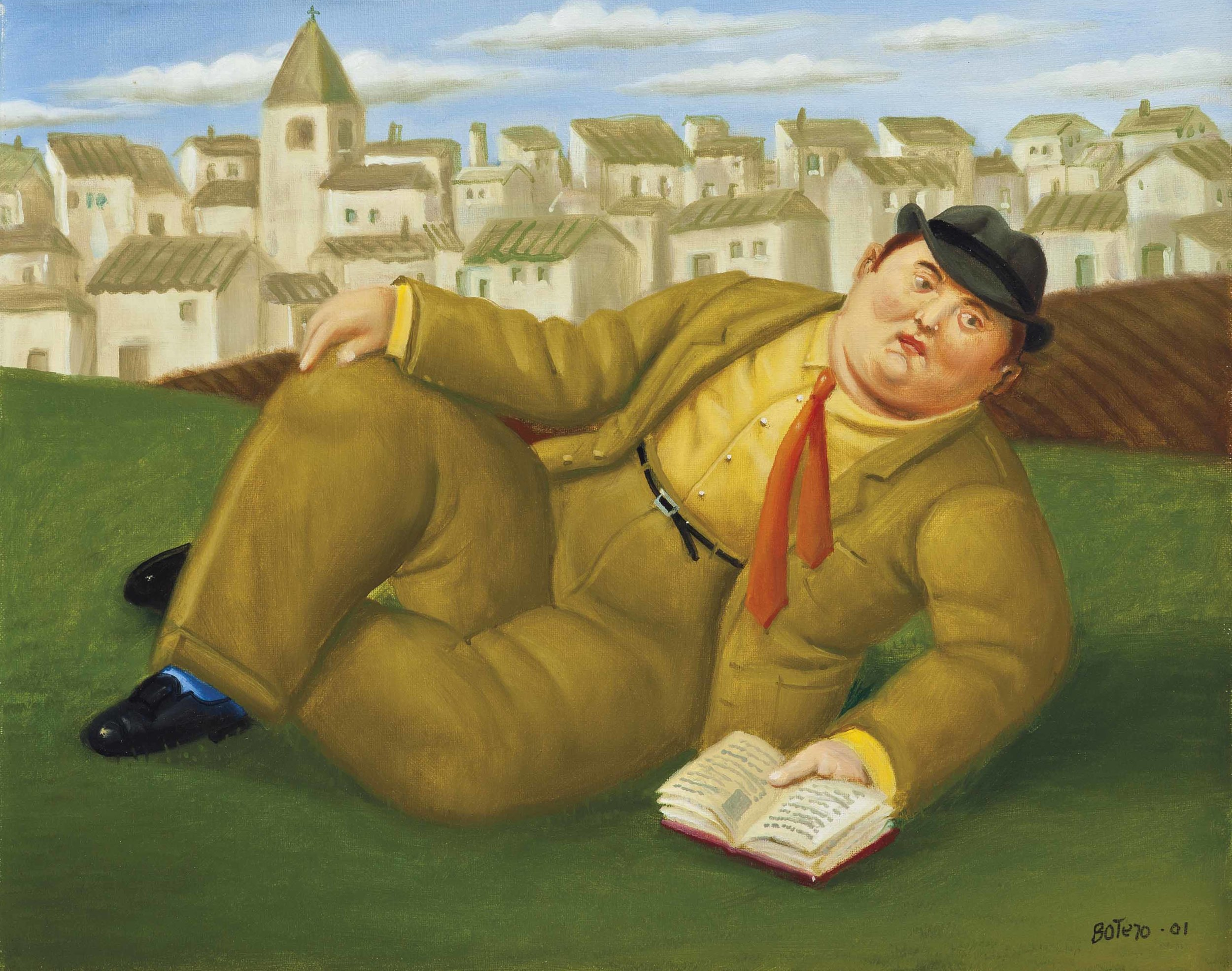 Man with a Book,  Fernando Botero