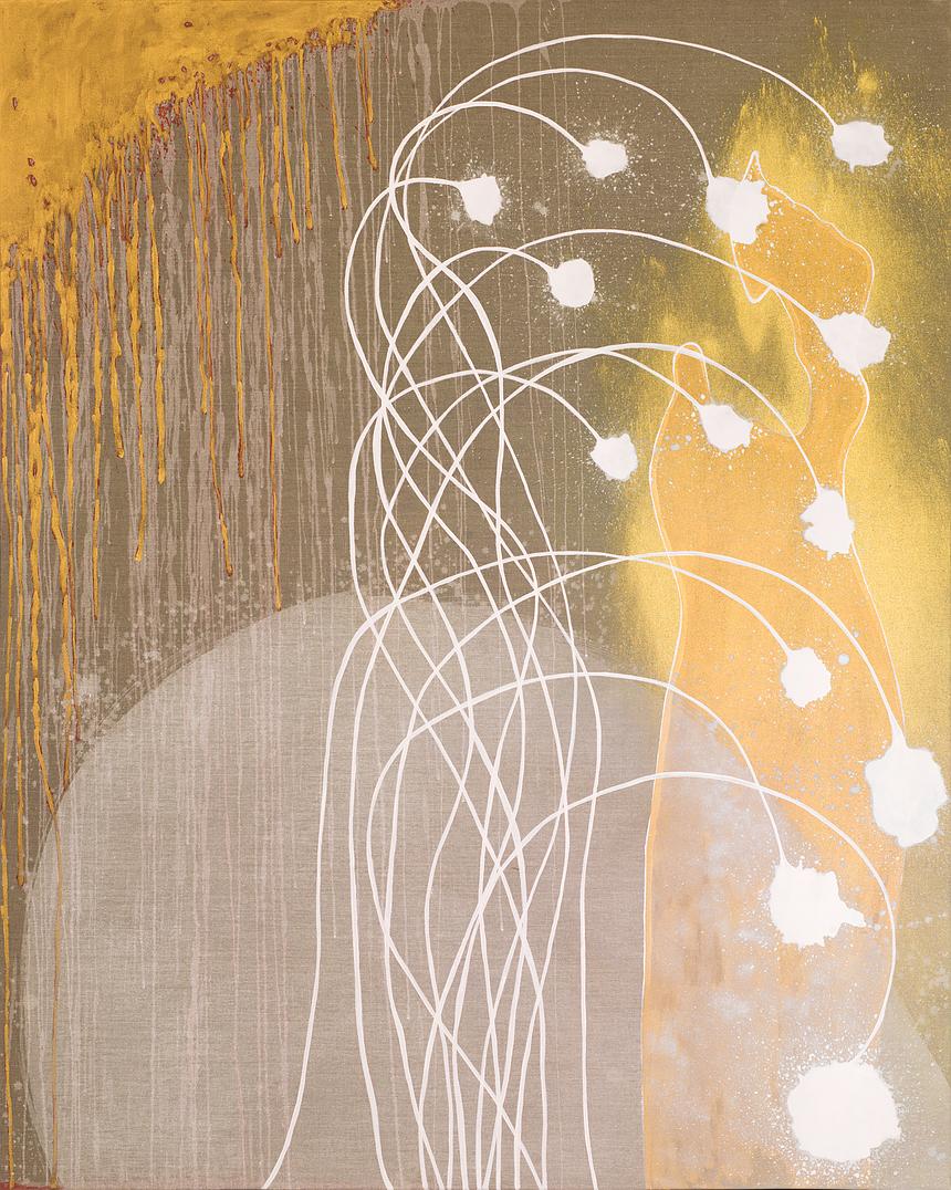 Circle, sign, vision, 2015, 200 x 160cm, Acrylic on canvas
