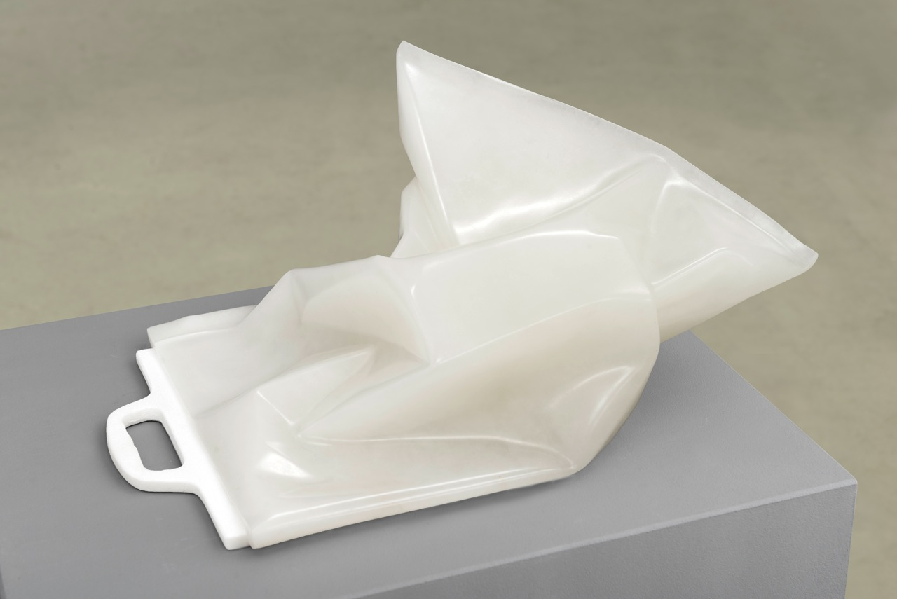 Andreas Blank, Untitled, 2015, 40 x 32 x 92 cm, Schiefer, Alabaster, Marmor