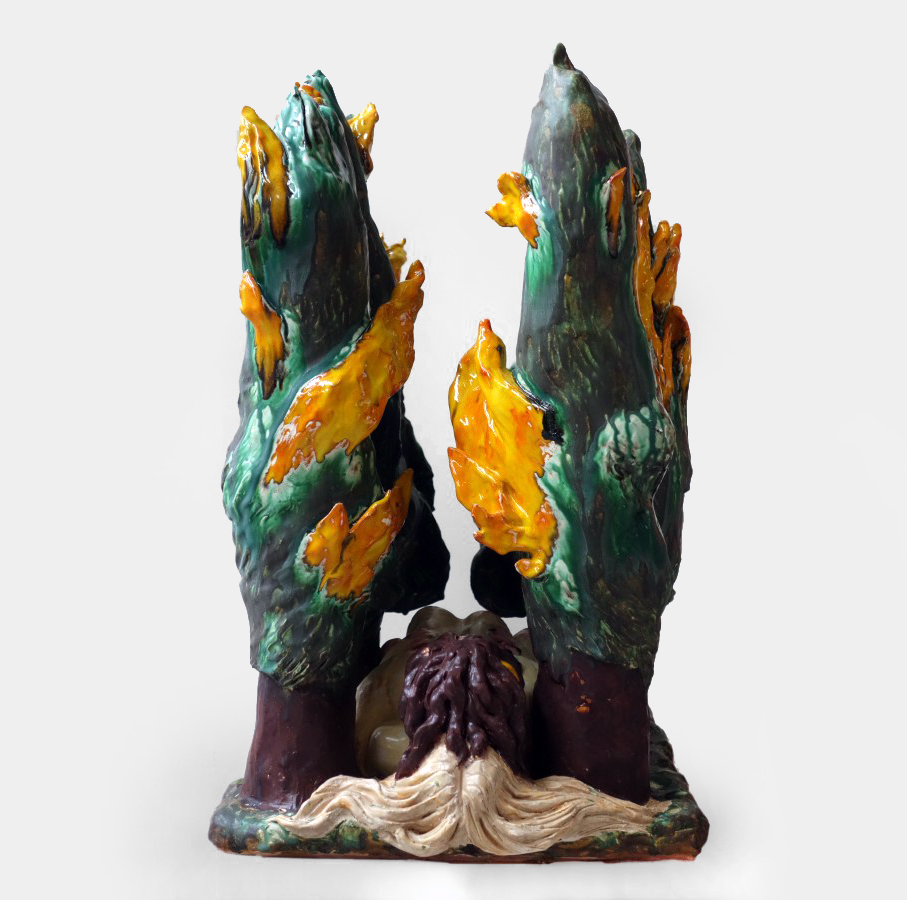 Chris Hammerlein, A Source of Wonderment, 2016, glasierte Keramik, 73 x 47 x 63 cm