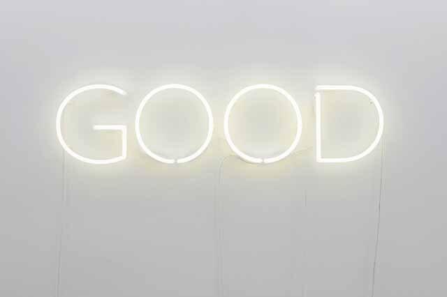 Via Lewandowsky, Good God, 2018, Neon, DMX-Lichtsteuerung, Lightinstallation