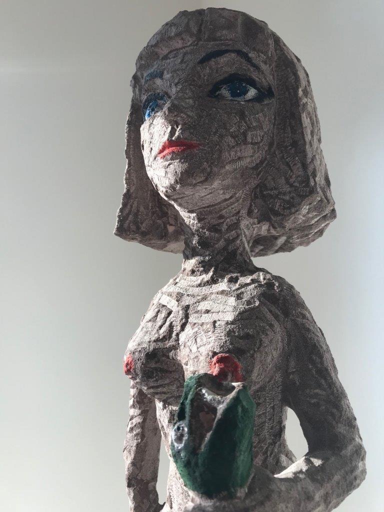 Stefan Rinck, Kleopatra smiles, 2015, Sandstein