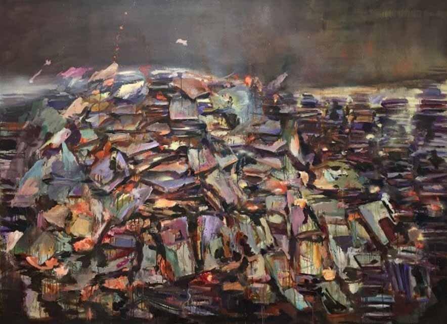 Franziska Klotz, Fear and Mimicry B1, 2018, 180x240 cm, Öl auf Leinwand