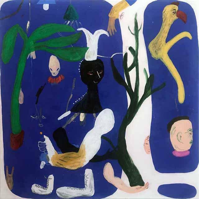 Janes Haid-Schmallenberg, Save my Garden, 2019, 130 x 130 cm, Öl und Acryl auf Leinwand