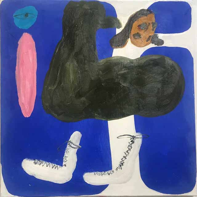 Janes Haid-Schmallenberg, Untitled 2 (Save my Garden), 2019, 70 x 70 cm, Öl und Acryl auf Leinwand