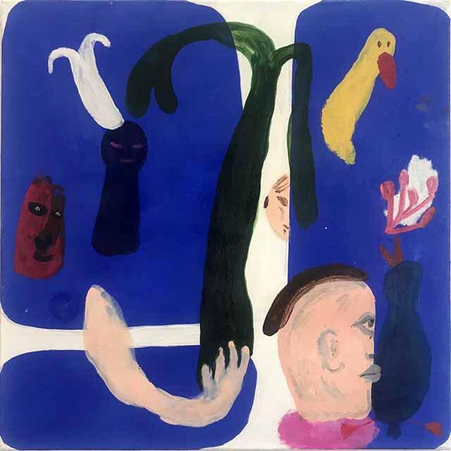 Janes Haid-Schmallenberg, Untitled 3 (Save my Garden), 2019, 70 x 70 cm, Öl und Acryl auf Leinwand