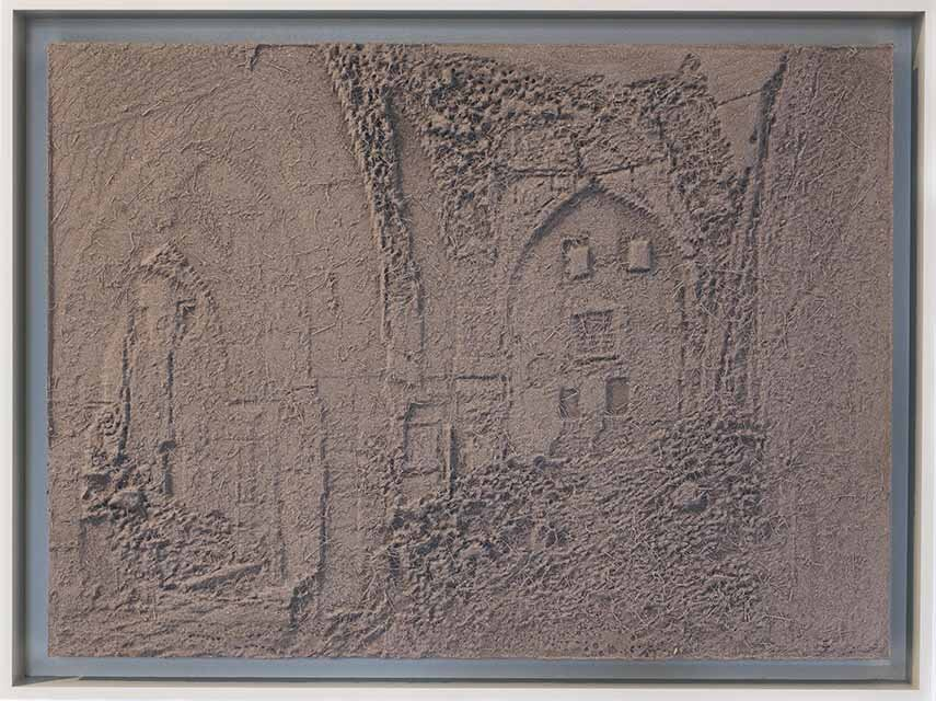 Amir Fattal, Frieze, 2015, Edition of 3, 54,5cm x 40cm, 3D printed reliefs, coated with industrial dust