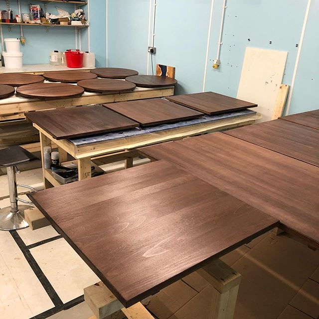 Busy times in the workshop bringing these tables back to life for @refinery_wb in West Bridgford which will be opening very soon. #table #recondition #stainwood #likenew