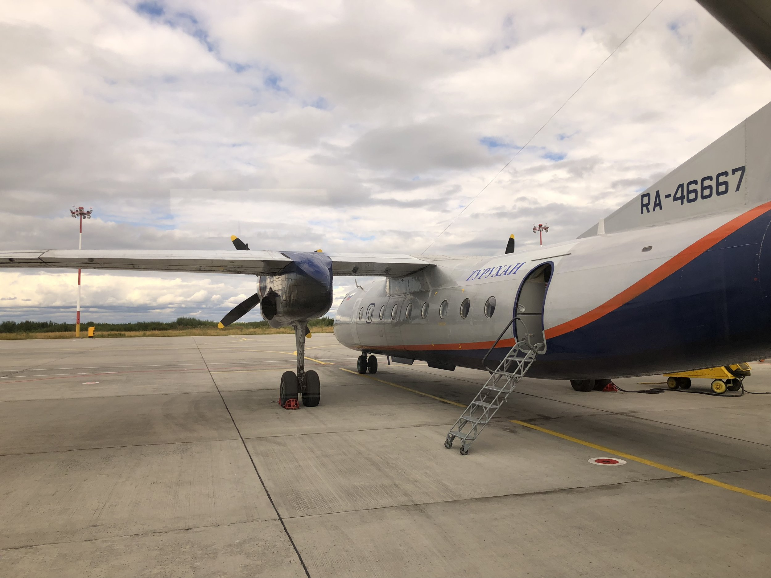 Plane to Solovetsky Islands at Arkhangelsk airport