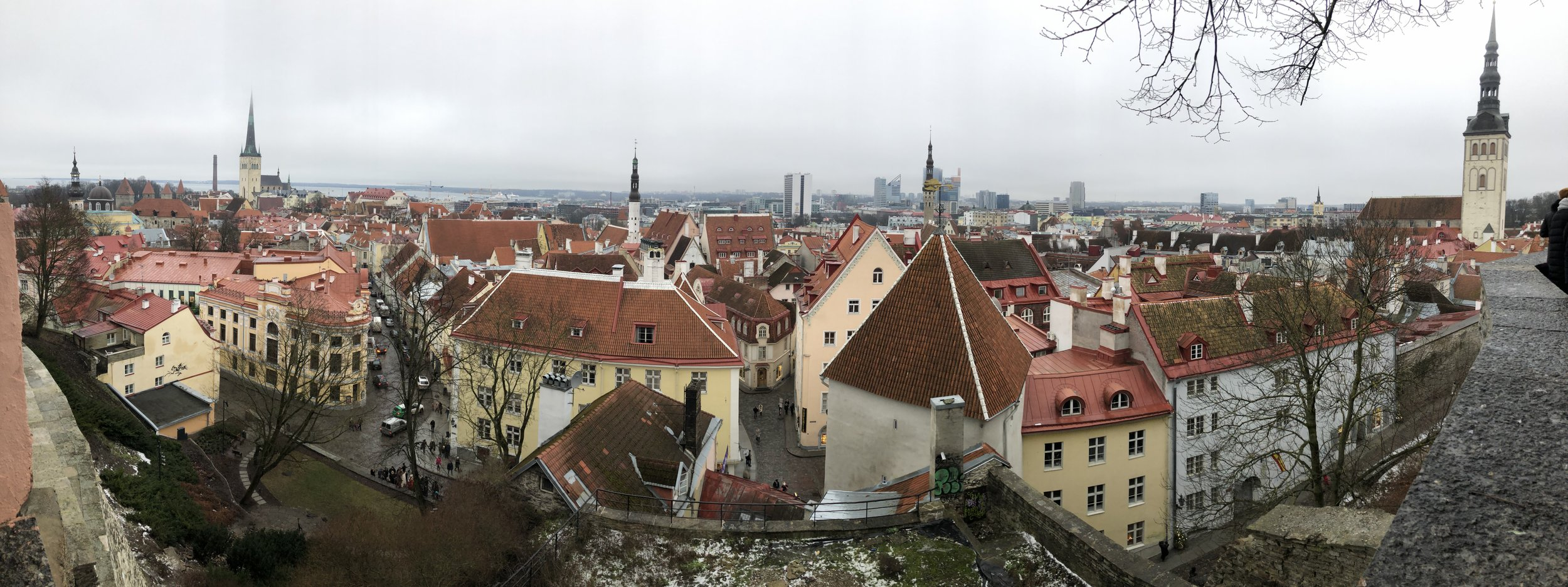 View of Tallinn from the Kohtuotsa viewing platform